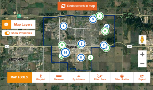 Map Tools Provide an Overview of Spruce Grove Property Locations Main Photo